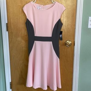Pink and grey dress